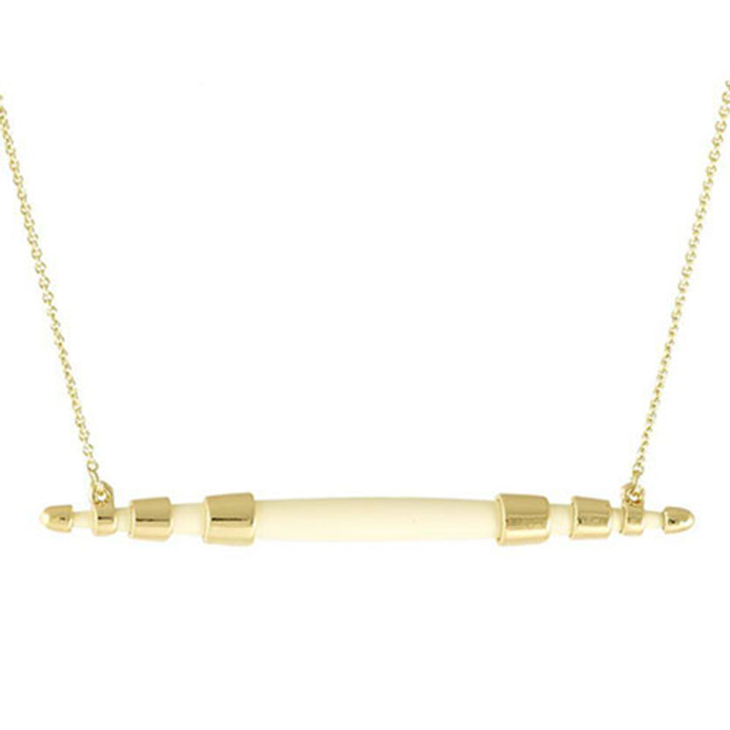 House of Harlow Rift Valley Horizontal Necklace-Ivory