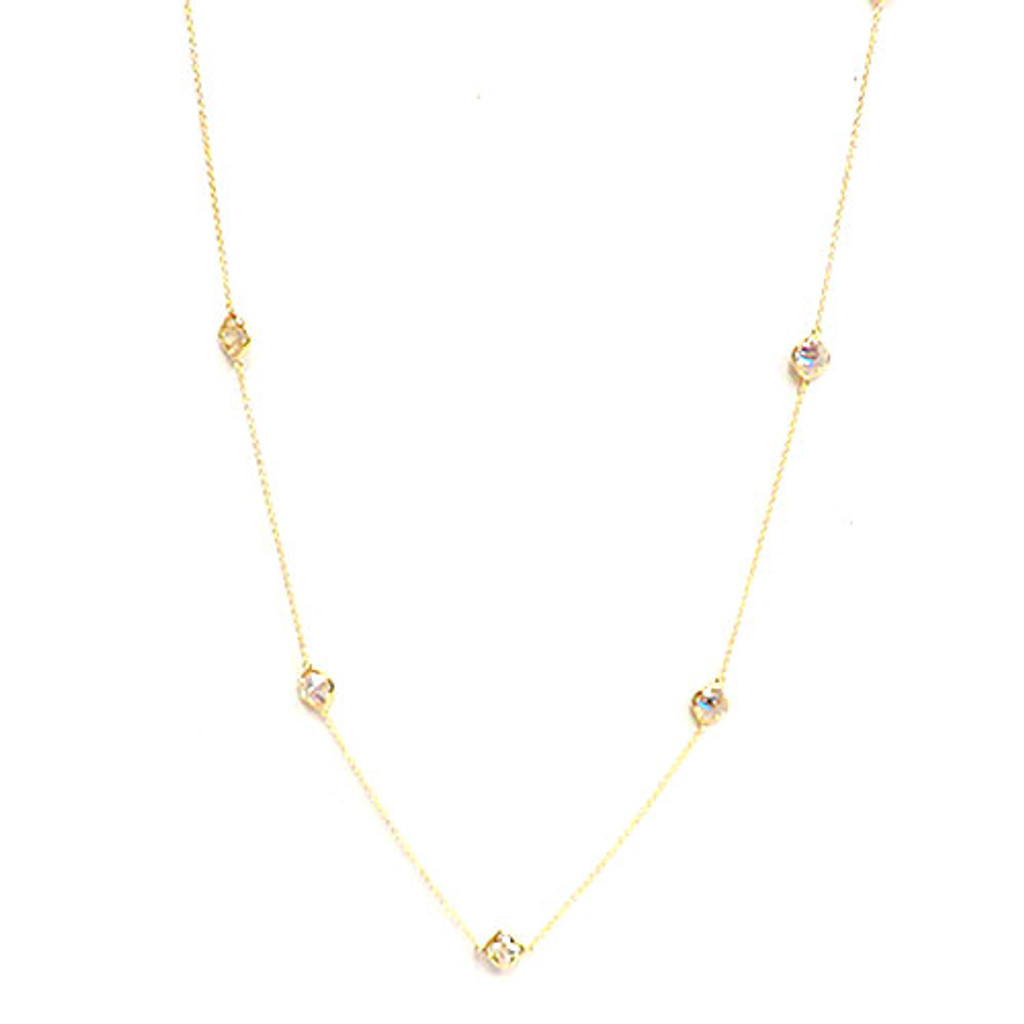 "Clover Shaped Crystal 36"" Chain"