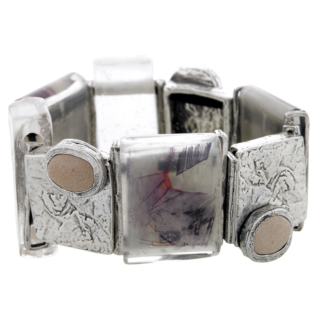 Hand Painted Resin Pieces Designer Bracelet