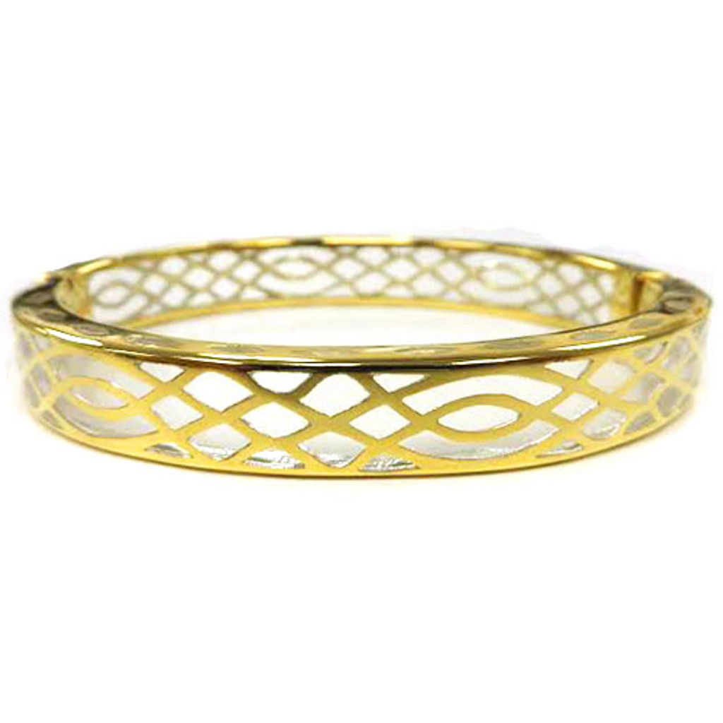 AHC's Clear Resin and Gold Infinity Bangle