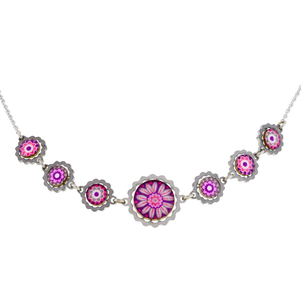 Flower Power Pink Necklace