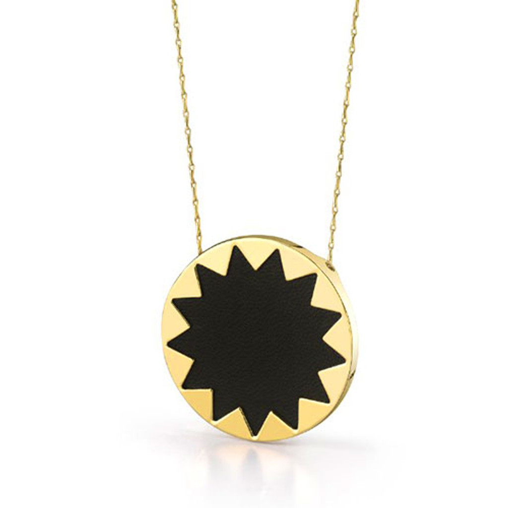 House of Harlow's Large Black Leather Starburst