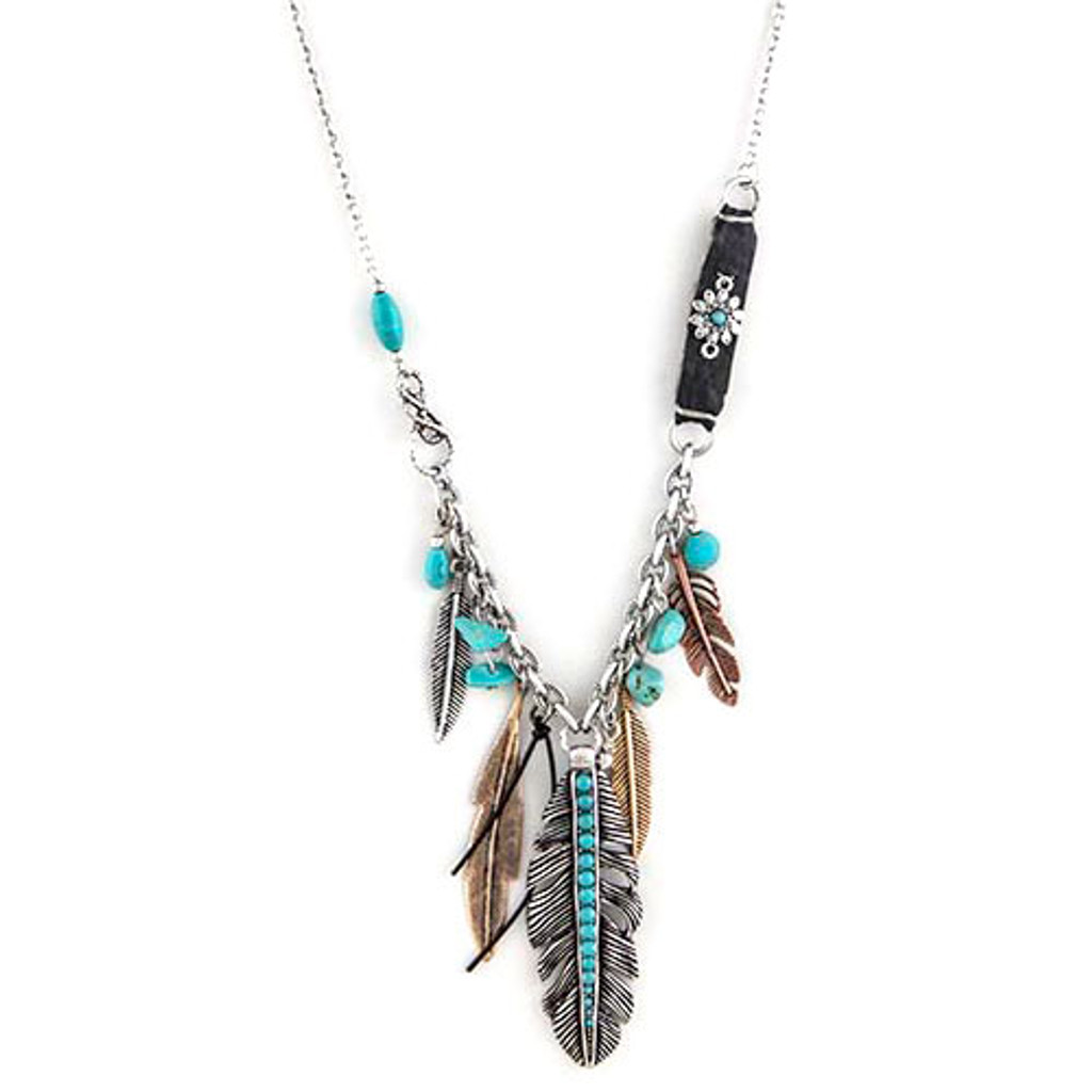 Vintage Finished Tribal Charms necklace 1