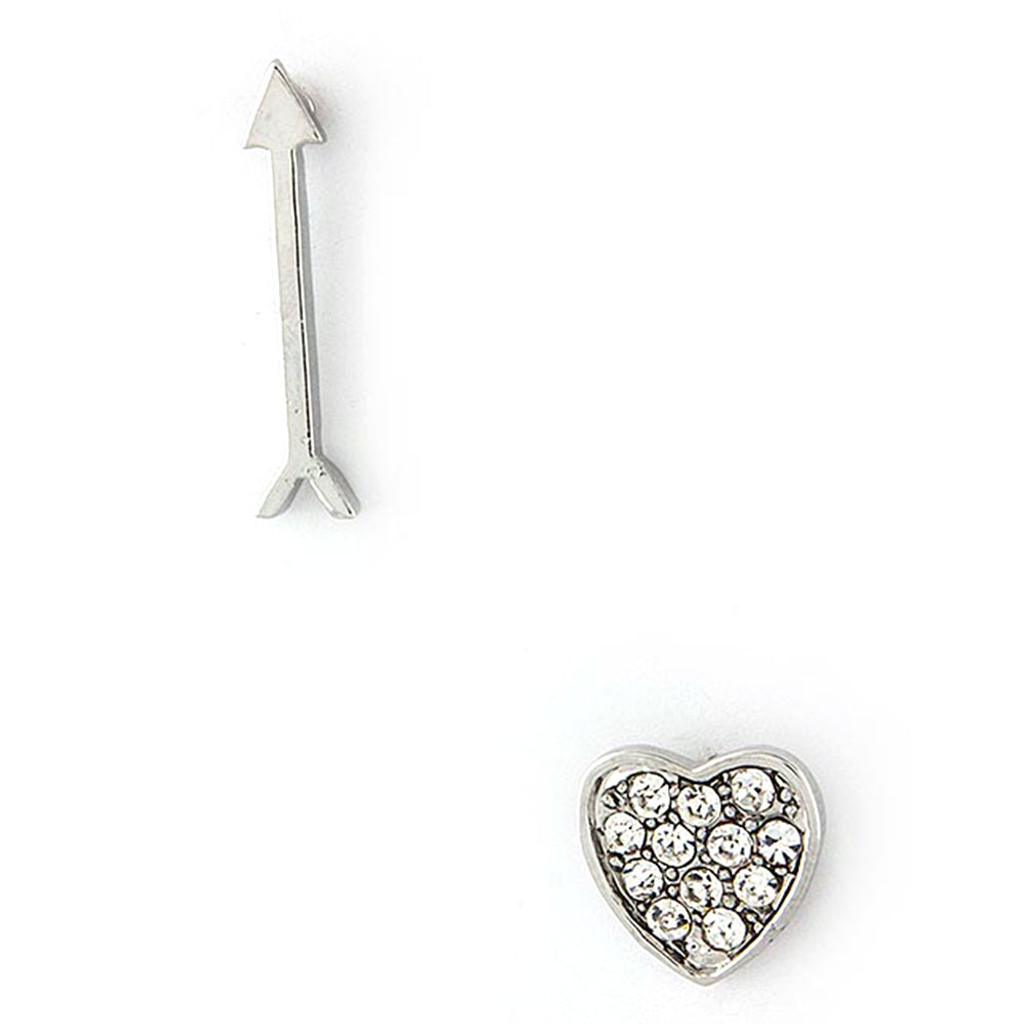 Cupids Arrow and Heart Studs