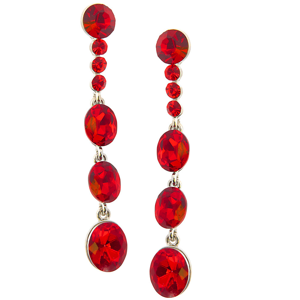 Garnet Graduating Drop Earring