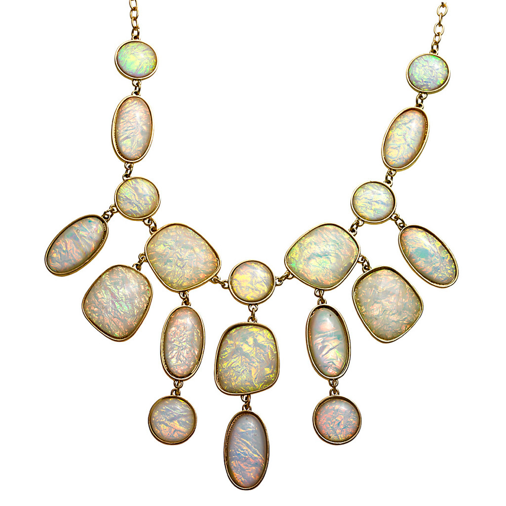 White Opal Statement Necklace