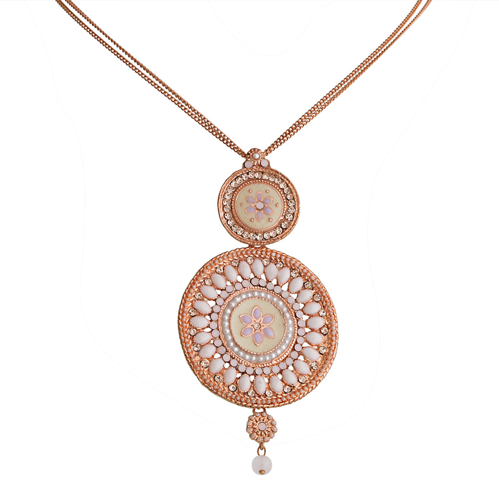 Alba Rose Gold Double Medallion