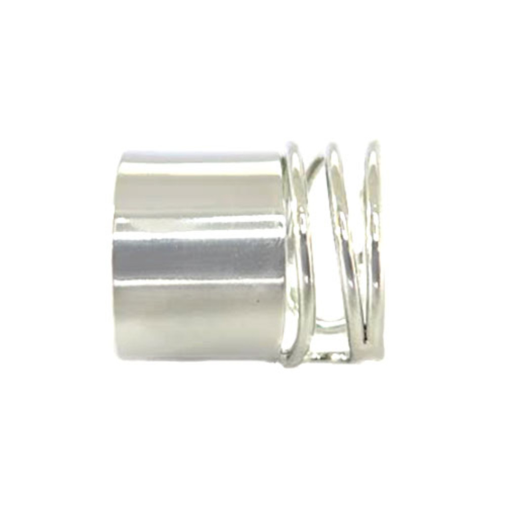 Silver Banded Coil Ring