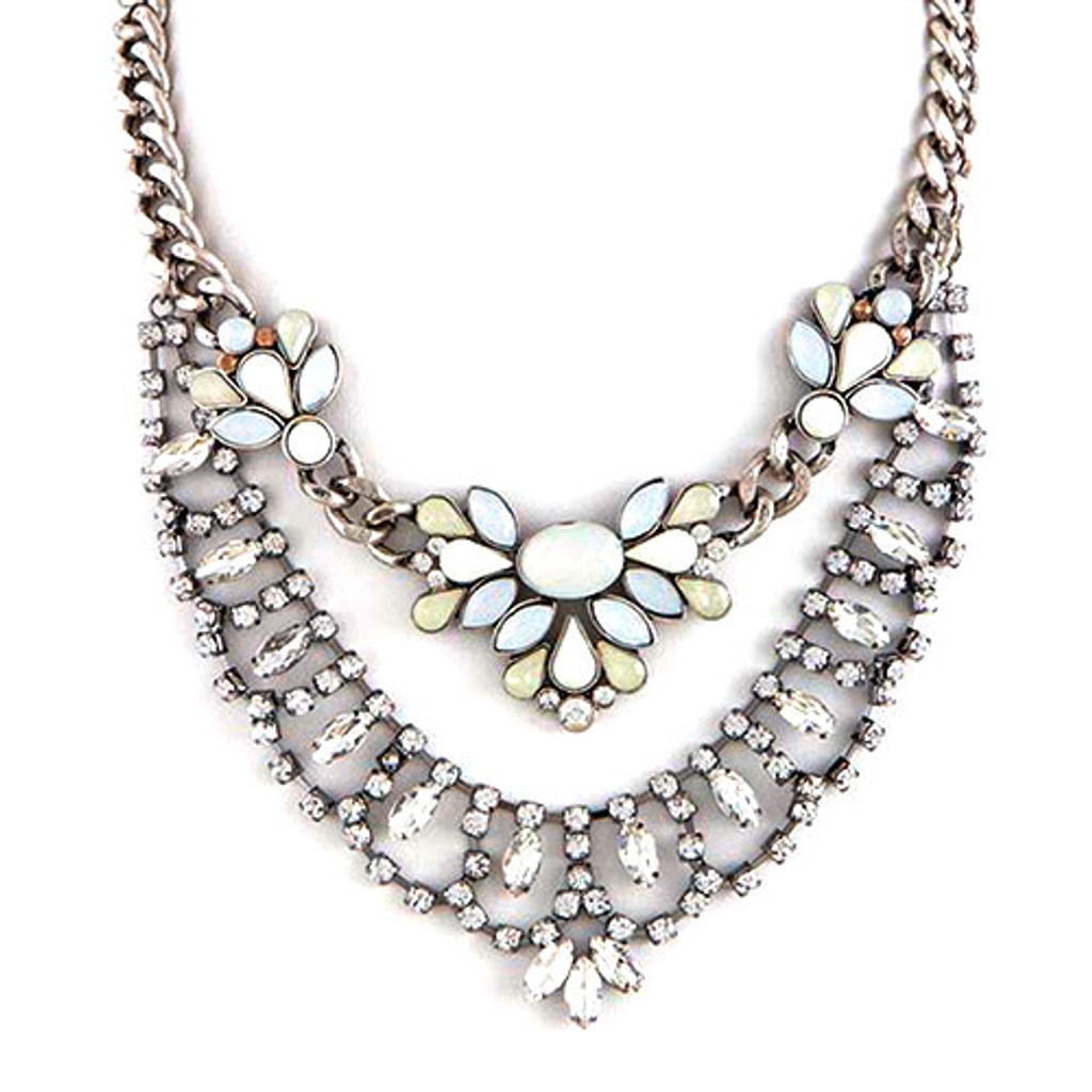 Crystal and Gems Rock Star Necklace