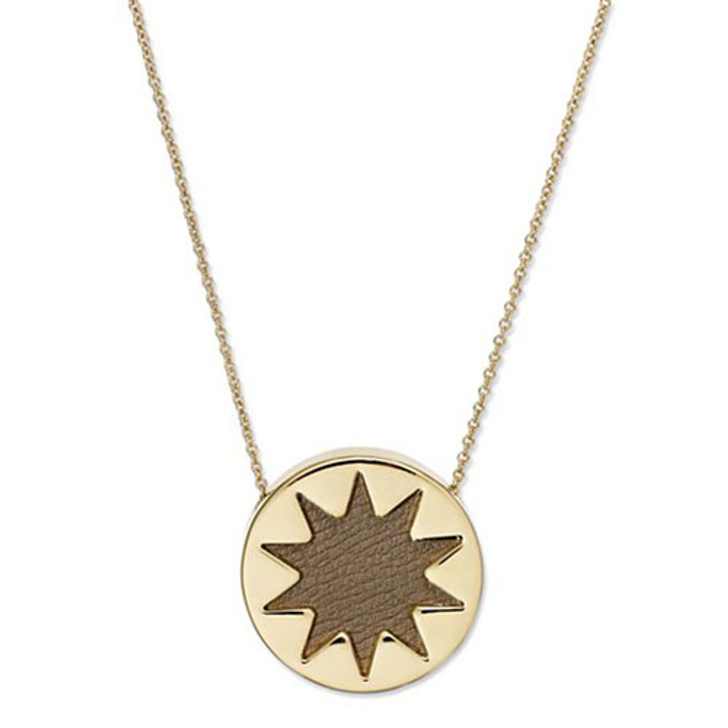 House of Harlow's Mini Khaki Leather Starburst