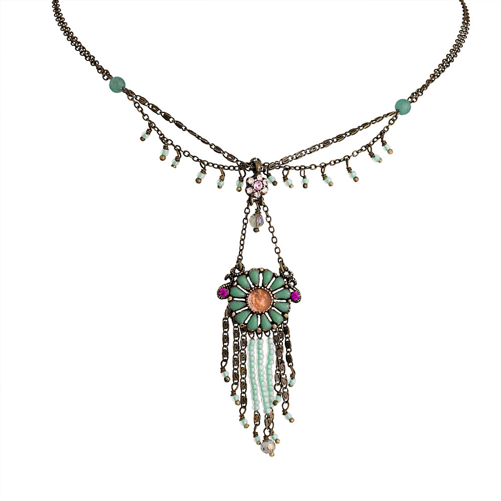 Gypsy Draped Medallion Necklace