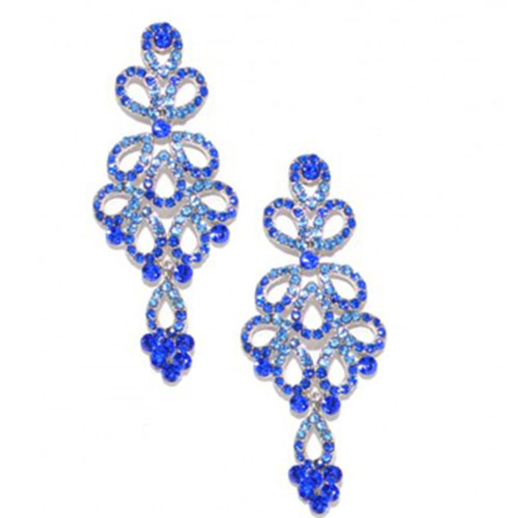 Enchanted Blue Chandelier Earrings