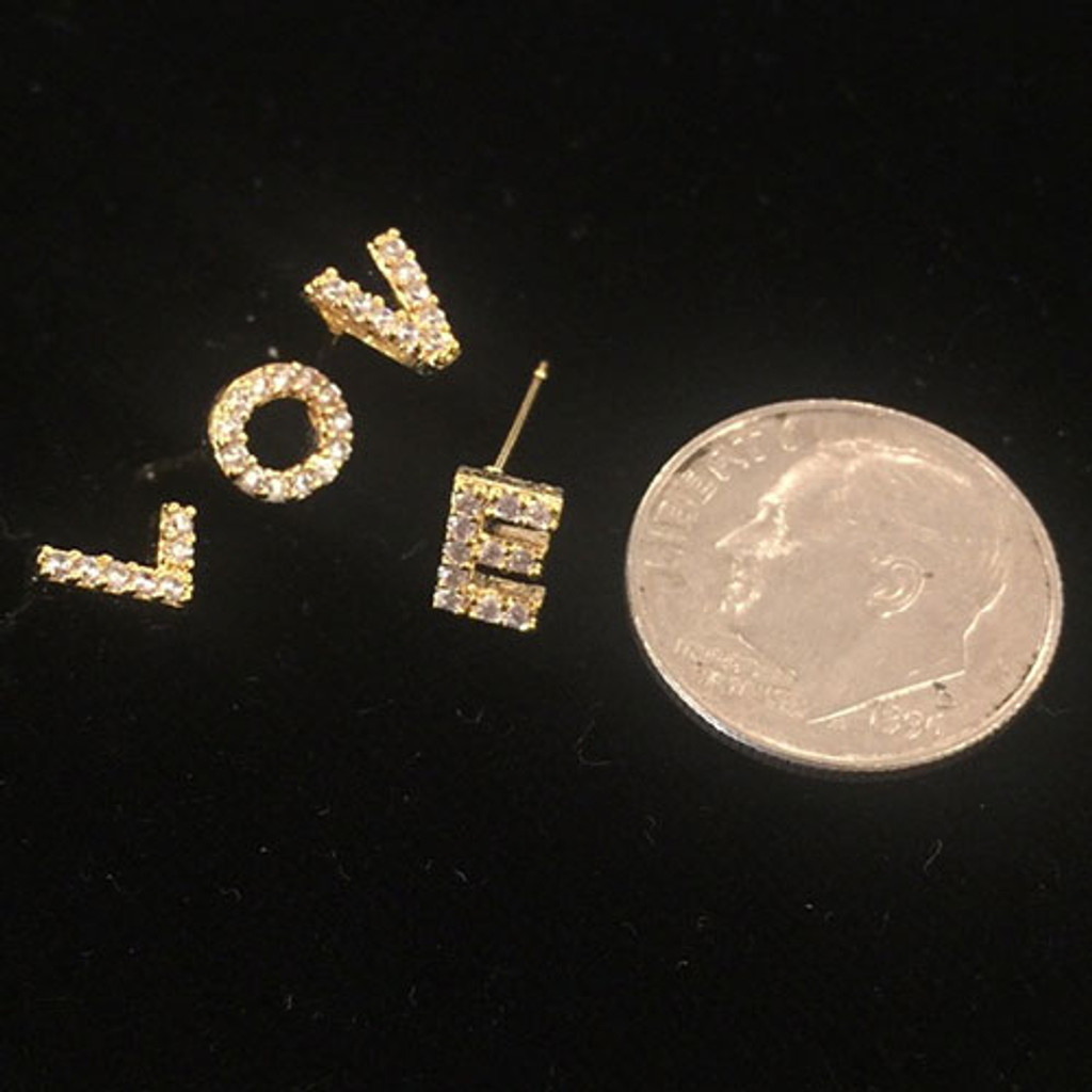 Our Cubic Zirconia Initial Earrings