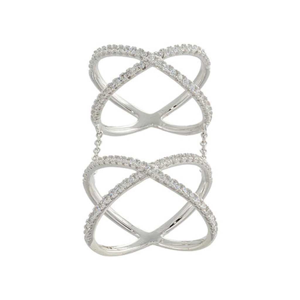 Chain Linked Double X C.Z. Ring