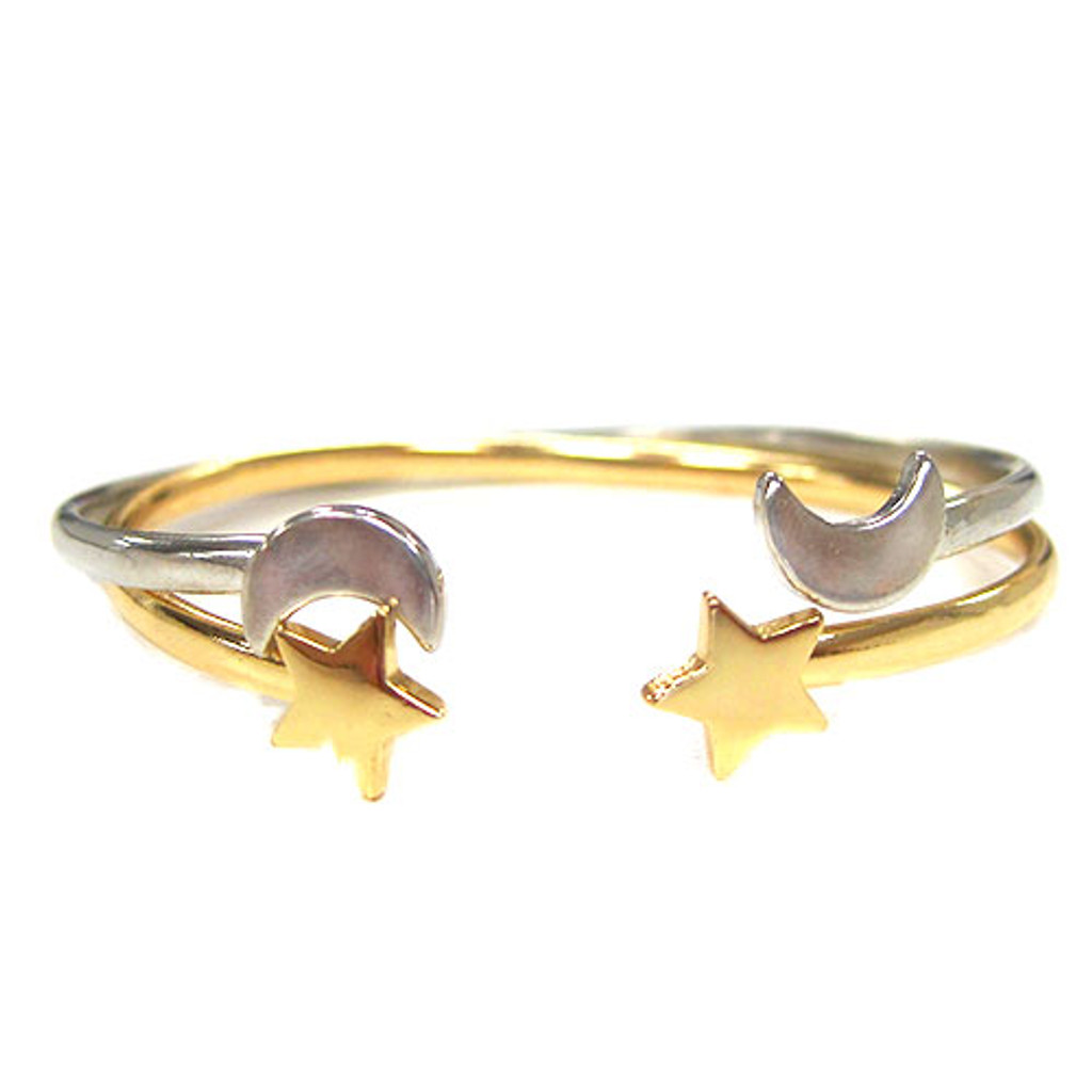 Gold/Silver Star and Moon Bracelets