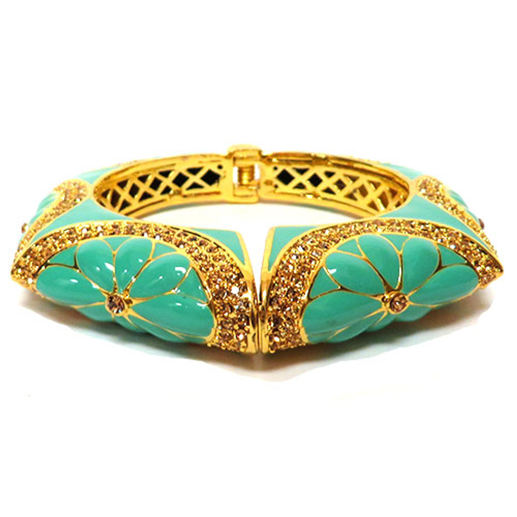 Upper East Side Blooming Bangle Gold