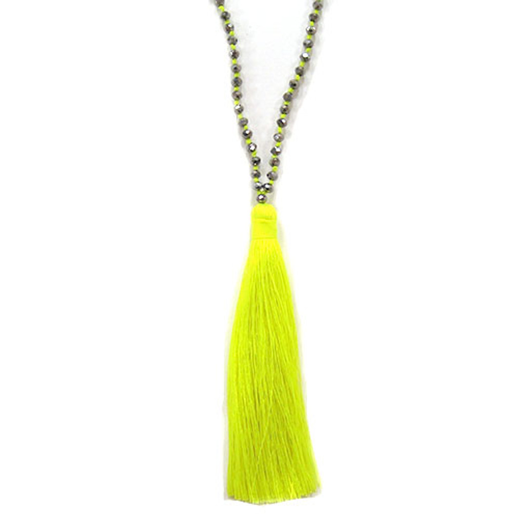 Zacasha's Bohemian Chic Crystals and Tassels Necklace 3