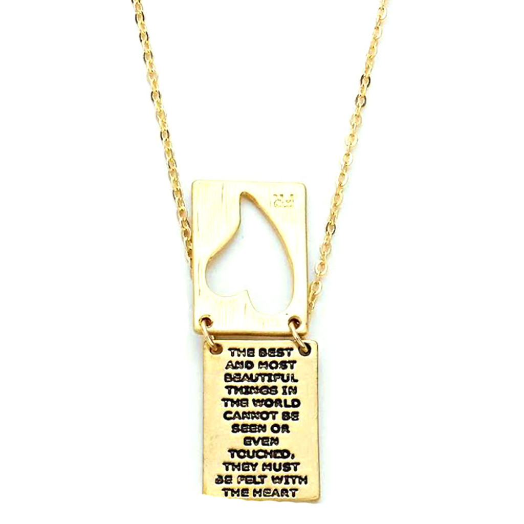 Silver or Gold Inspirational Layered Heart