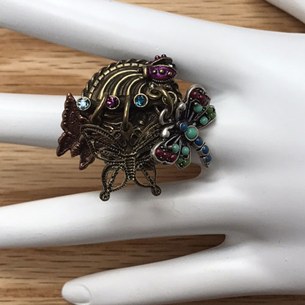 Dragonfly/Butterfly Charm Ring