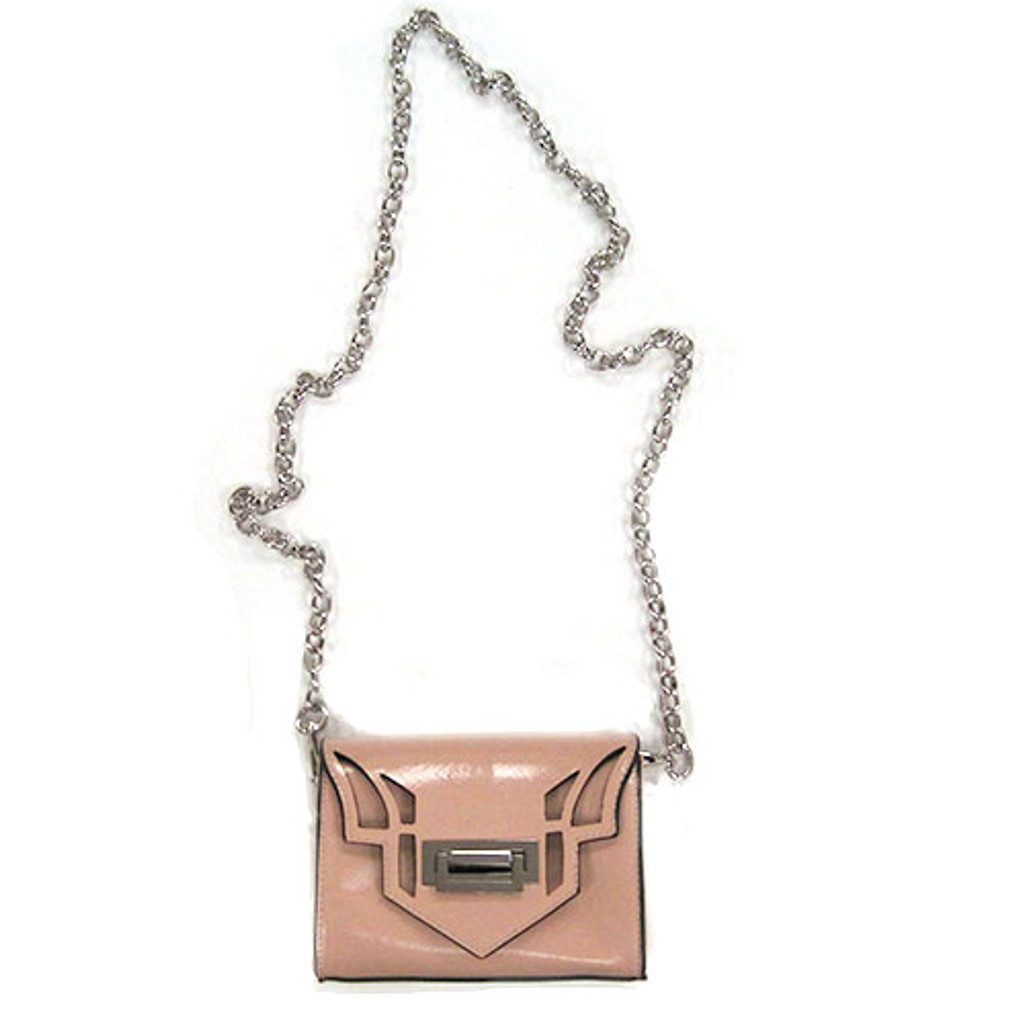 Sondra Robert's Blush Laser Cut Small Crossbody