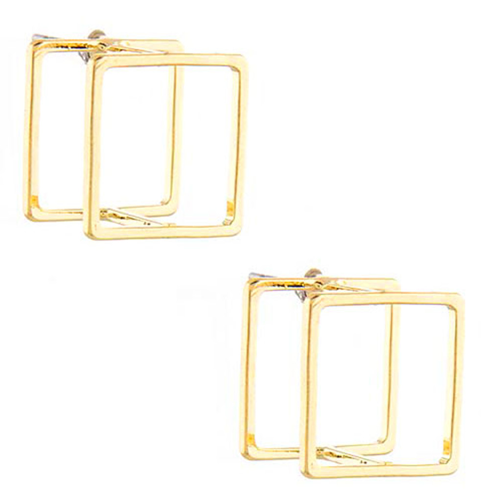Seeing Double Square Earrings