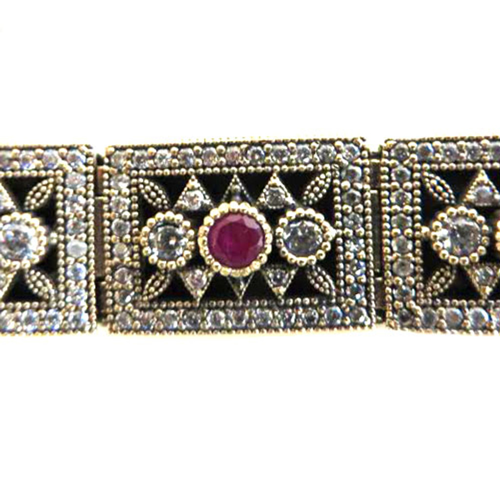 Byzantine Ruby Linked Bracelet