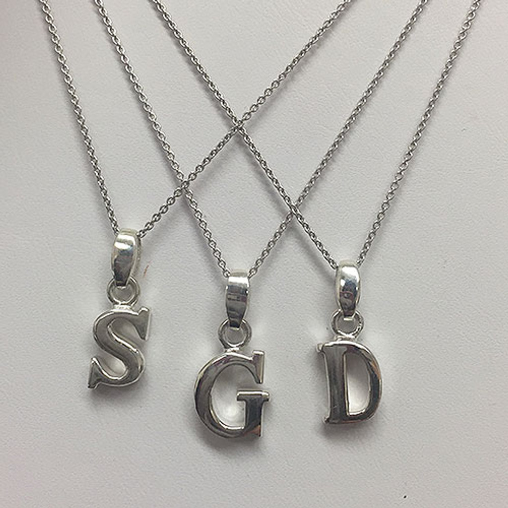 Thick Sterling Silver Initial Letters
