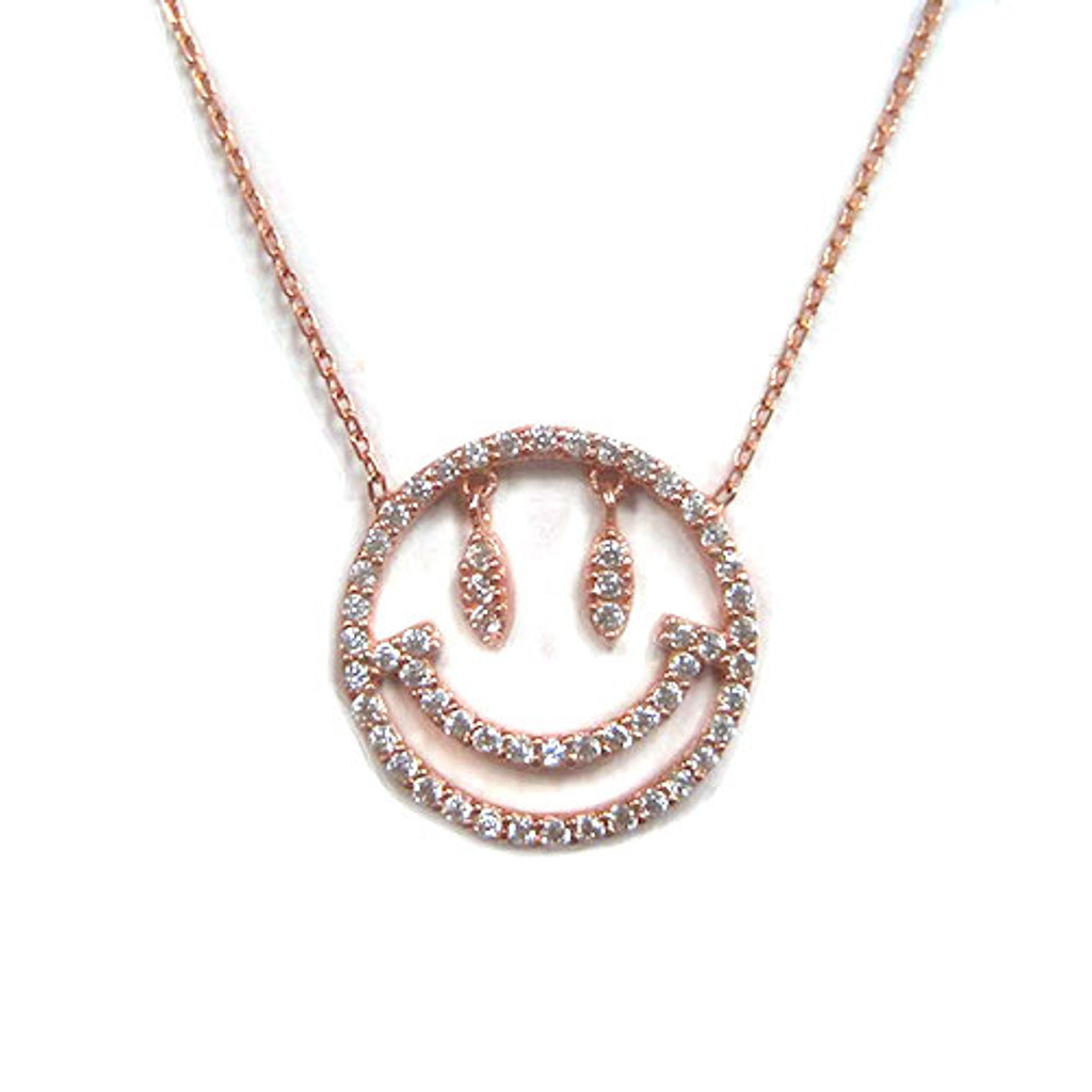 Emoji Smiley C.Z. Necklace