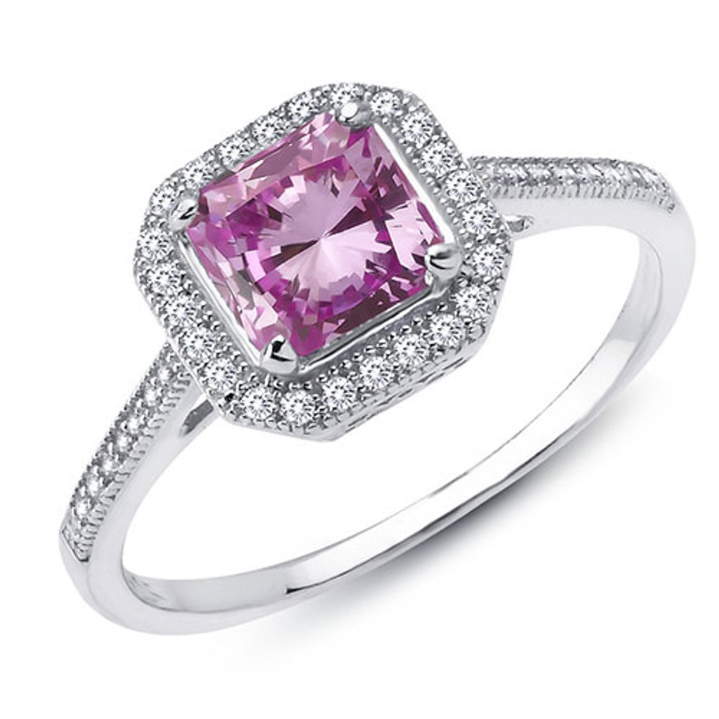 Lafonn's Princess Cut Pink Diamond Ring
