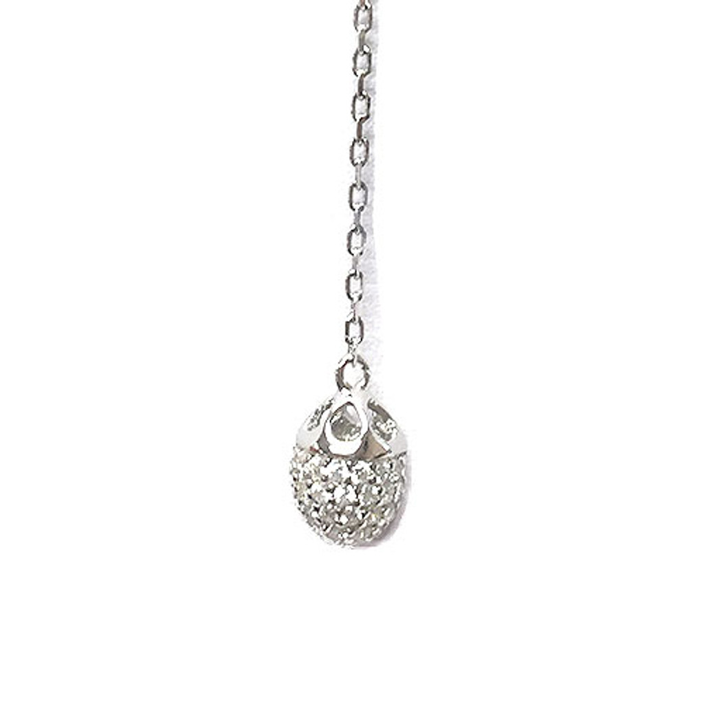 Sterling Silver Flower & Bud Y-Necklace