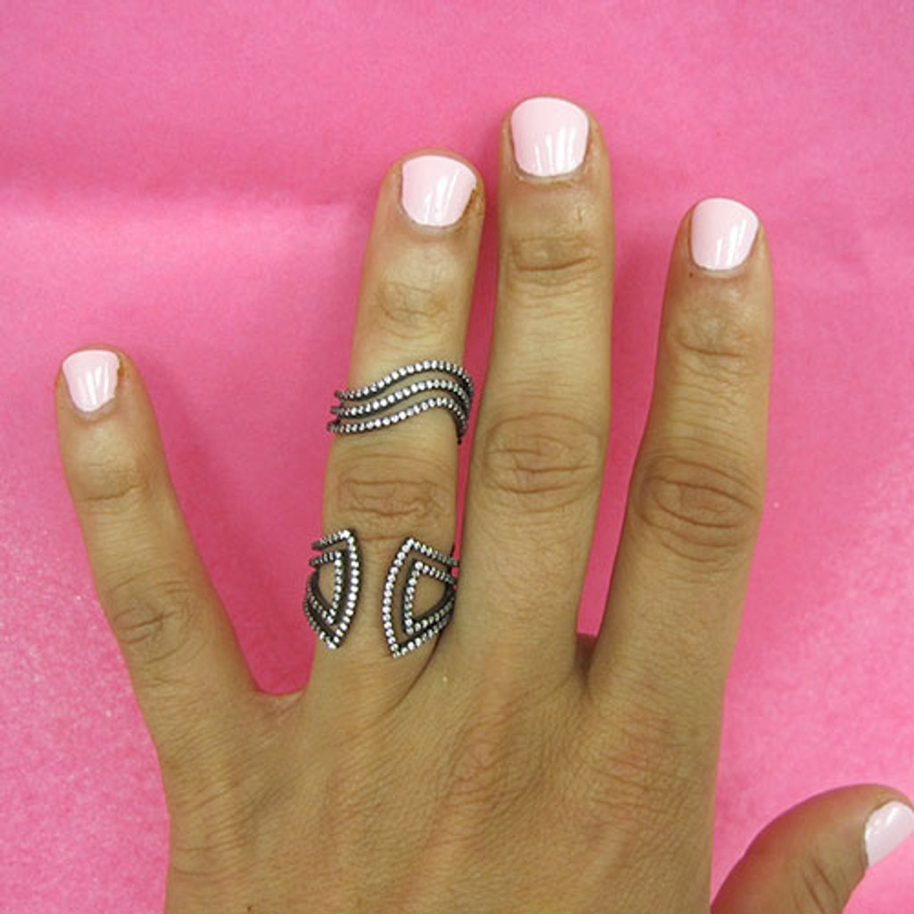 Azaara's Celebrity Style Double Ring