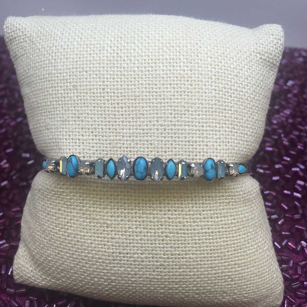 Sorrelli Semi-Precious & Crystals in a Row Cuff
