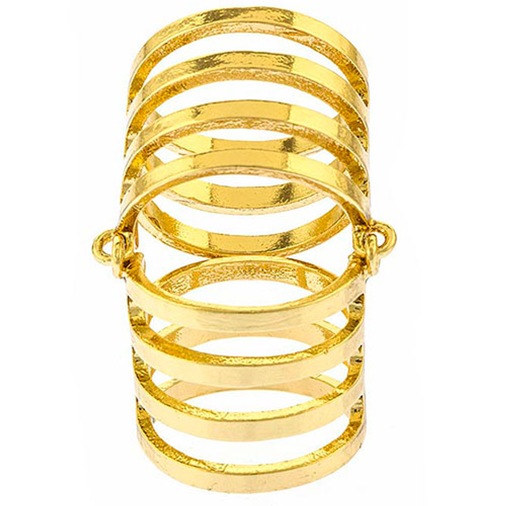 Gold Caged Ring