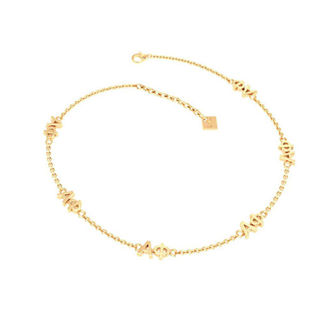 Alpha Phi Gold Plated Multi Mini Bracelet