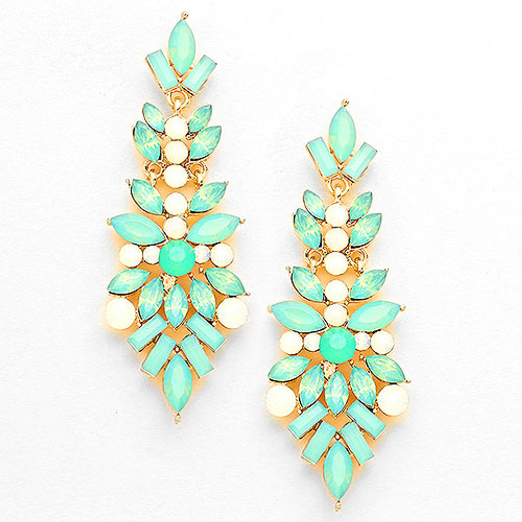 "Mint Opal ""Pop the Champagne"" Earring"