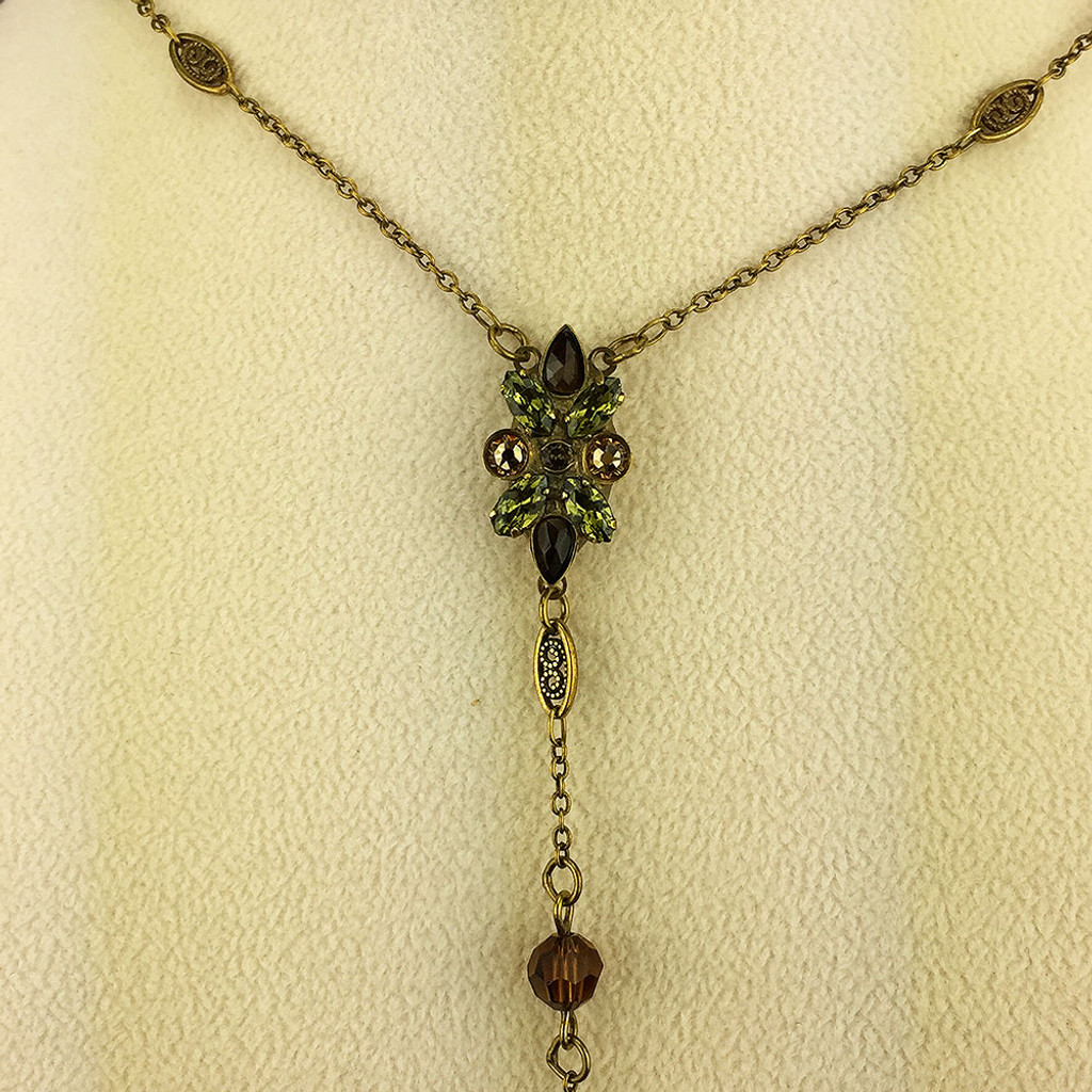 """Sorrelli's Long Green Tapestry """"Y"""" Necklace"""