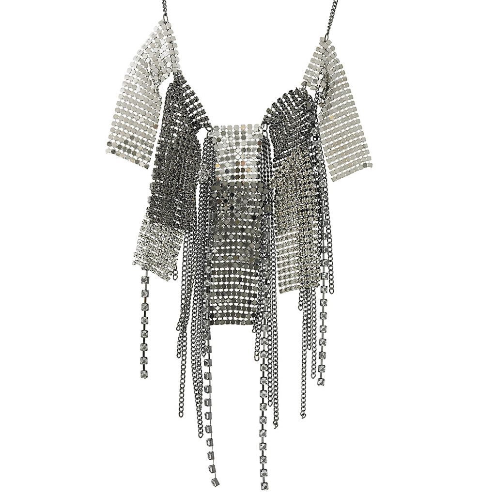 Mixed Metal Mesh Necklace