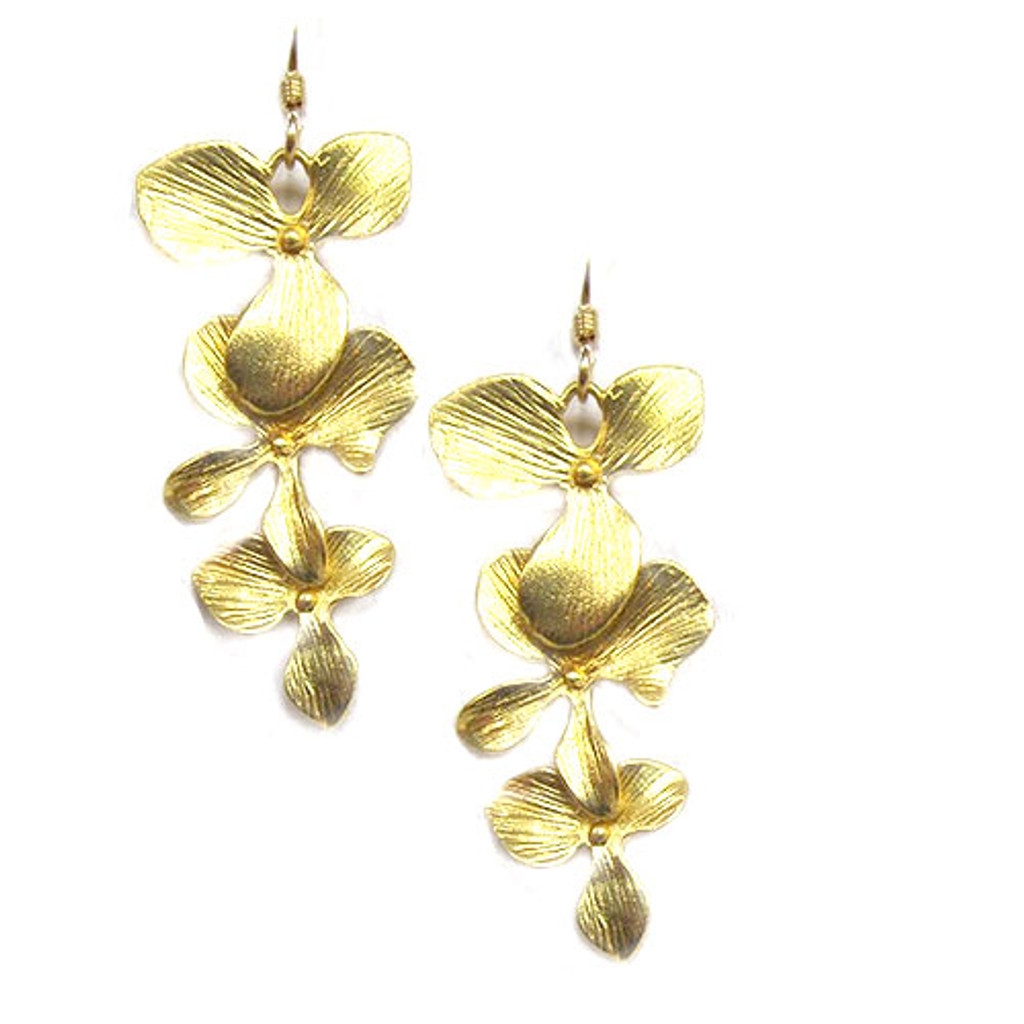 Cascading Orchid Earrings