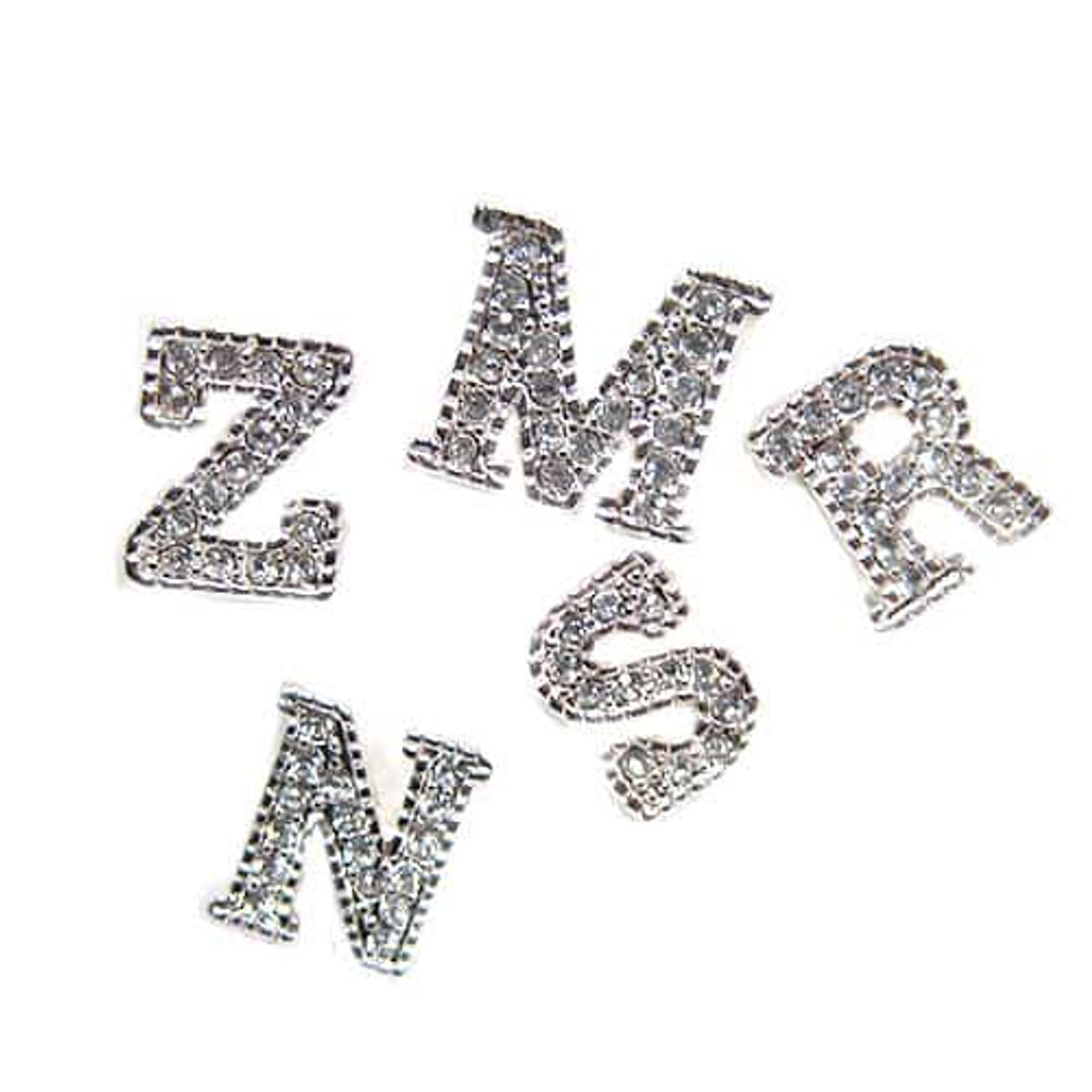 C.Z. Little Letter Earrings