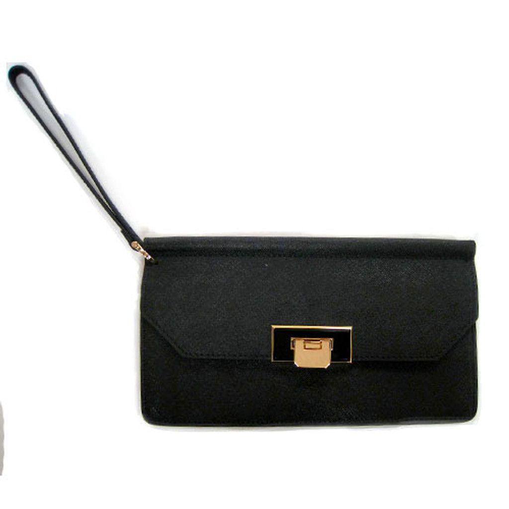 Sondra Roberts Saffiano With Flip Lock Closure