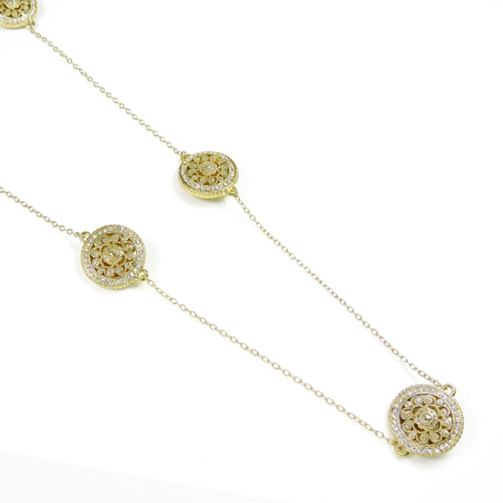 "Filigree Medallions 36"" Necklace G"
