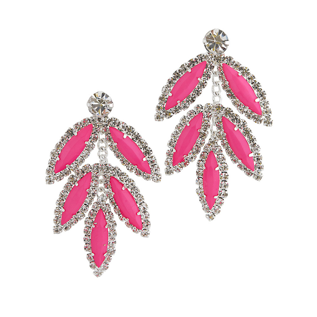 Five Leaf Earring Pink