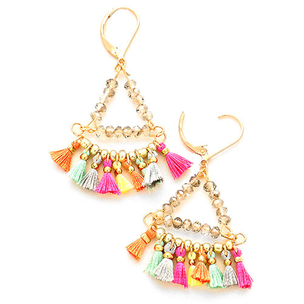 Mini Tassel Boho Earrings