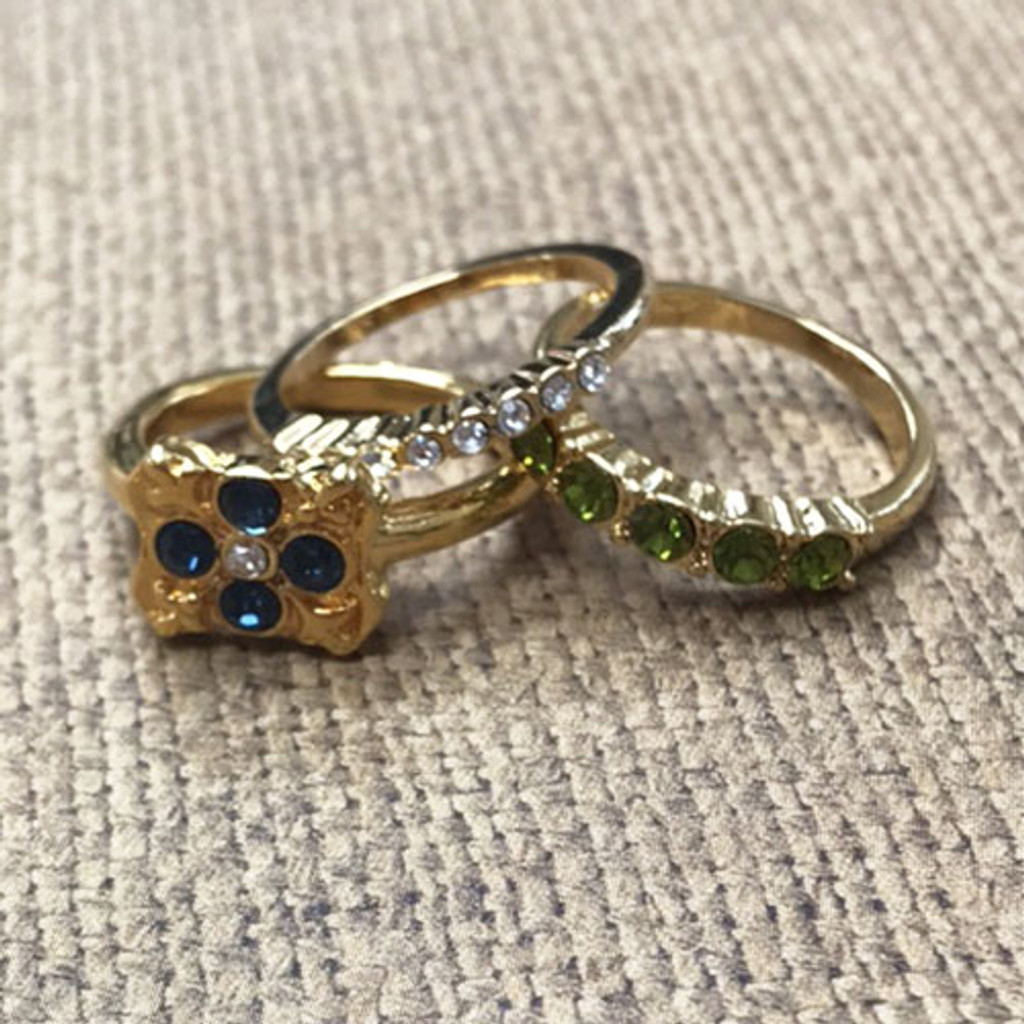 Set of 3 Vintage Stackable Rings G 1