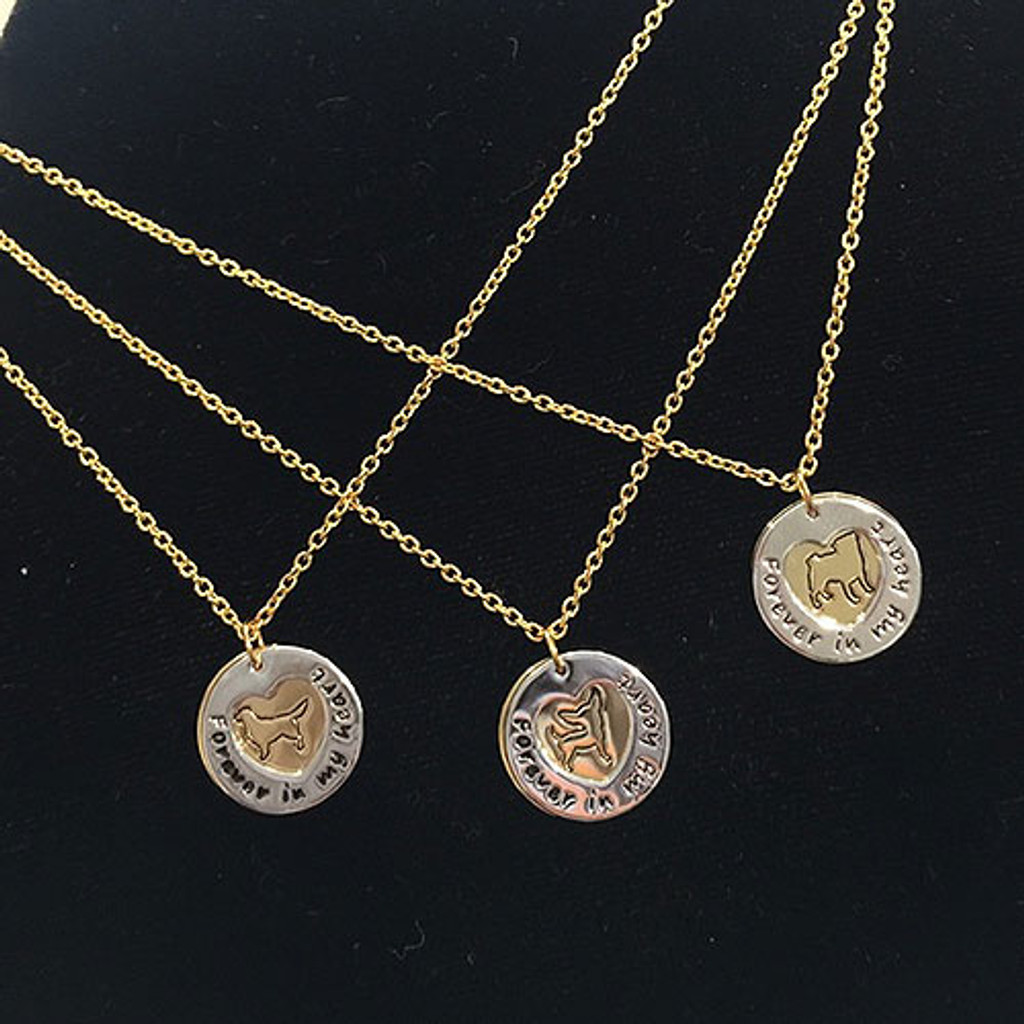 """Chihuahua """"Fur Baby"""" Forever in Our Hearts Necklaces"""