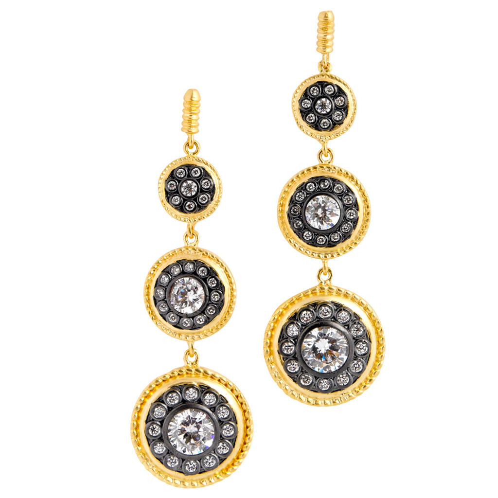 Freida Rothman's Triple Shield Dangle Earring