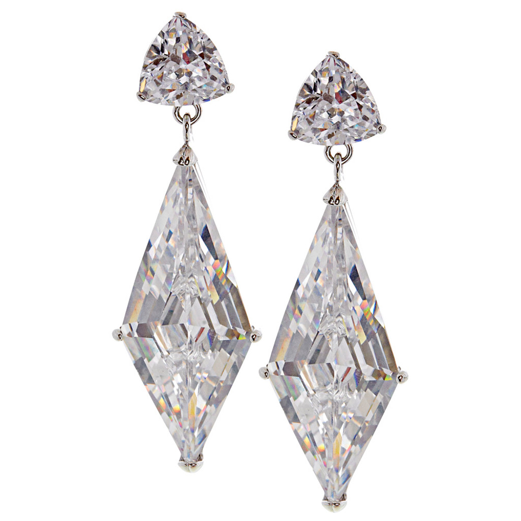 Cubic Zirconia Trillian and Diamond Cut Dangles