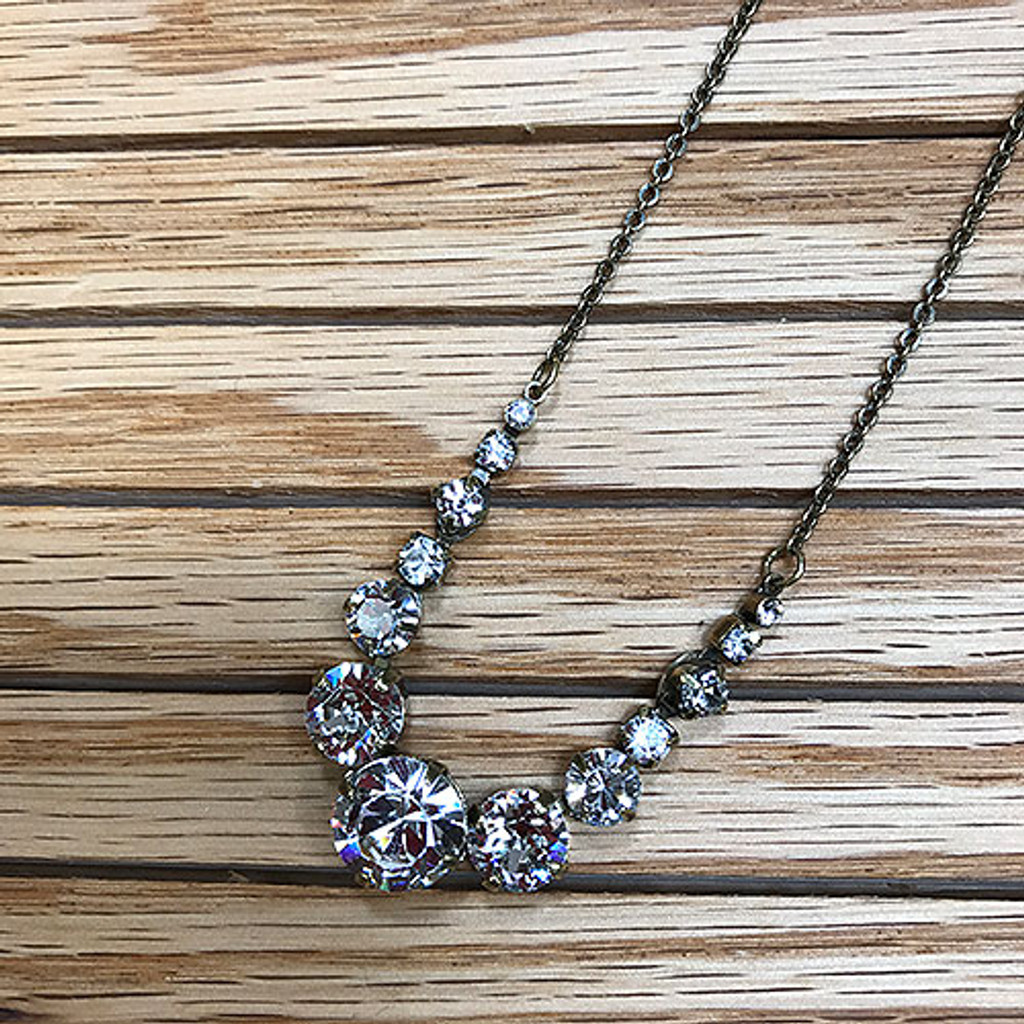 Sorrelli's Graduating Round Crystal Necklace