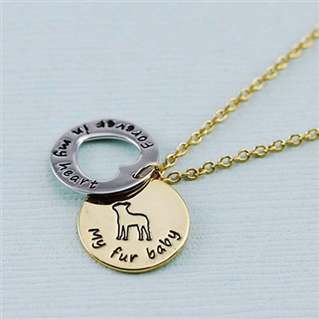 "Boston Terrier  ""Fur Baby"" Forever in Our Hearts Necklaces"