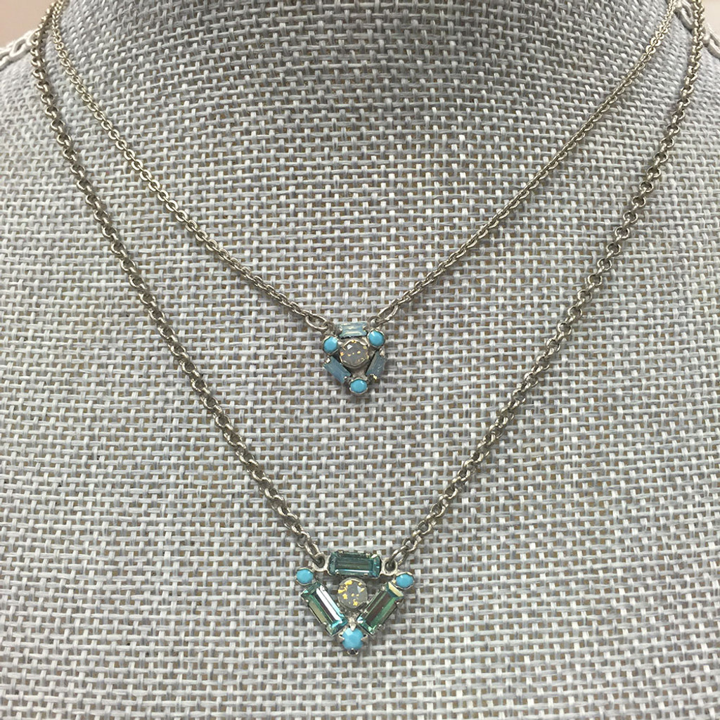 Double Layered Teal Textile Sorrelli Necklace